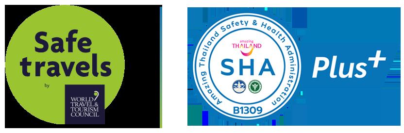 Safe Travel & SHA Logo